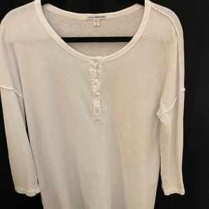 James Perse White French Terry Sweatshirt_Size 4